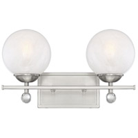 Satin Nickel Crystal Bathroom Vanity Lights