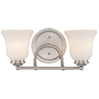 Savoy House Mercer 2 Light Vanity Light in Satin Nickel 8-470-2-SN
