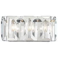 Bangle 3 Light 16 inch Polished Chrome Bath Bar Wall Light