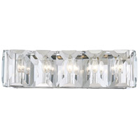 Bangle 5 Light 25 inch Polished Chrome Bath Bar Wall Light