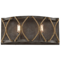 Keating 2 Light 17 inch Artisan Rust Bath Bar Wall Light