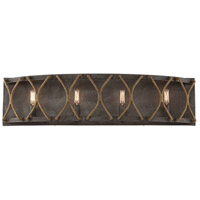 Keating 4 Light 32 inch Artisan Rust Bath Bar Wall Light