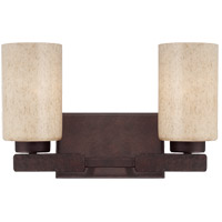 Berkley 2 Light 14 inch Heritage Bronze Bath Bar Wall Light
