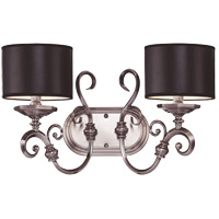 Savoy House Mont La Ville 2 Light Vanity Light in Brushed Pewter 8-5690-2-187