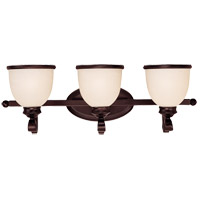 Savoy House 8-5779-3-13 Willoughby 3 Light 25 inch English Bronze Bath Bar Wall Light in Cream Marble photo thumbnail