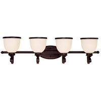 Savoy House 8-5779-4-13 Willoughby 4 Light 34 inch English Bronze Bath Bar Wall Light in Cream Marble photo thumbnail