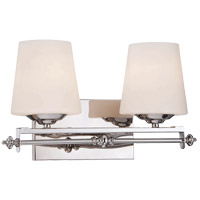 Savoy House 8-5850-2-11 Aiden 2 Light 16 inch Polished Chrome Bath Bar Wall Light