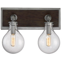 Savoy House 8-6073-2-90 Dansk 2 Light 13 inch Galvanized Metal Bath Bar Wall Light