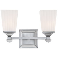 Savoy House Opal 2 Light Vanity Light in Satin Nickel 8-6820-2-SN photo thumbnail