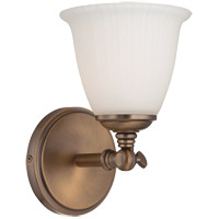 Savoy House Bradford 1 Light Vanity Light in Heirloom Brass 8-6830-1-178