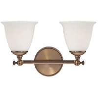 Savoy House Bradford 2 Light Vanity Light in Heirloom Brass 8-6830-2-178