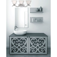 Savoy House 8-6835-3-69 Eaton 3 Light 25 inch Pewter Bath Bar Wall Light in White Etched alternative photo thumbnail