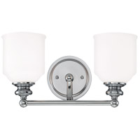 Melrose 2 Light 15 inch Polished Chrome Bath Bar Wall Light
