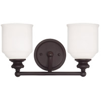 Melrose 2 Light 15 inch English Bronze Bath Bar Wall Light