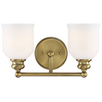 Savoy House 8-6836-2-322 Melrose 2 Light 15 inch Warm Brass Bath Bar Wall Light