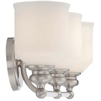 Savoy House 8-6836-3-SN Melrose 3 Light 24 inch Satin Nickel Bath Bar Wall Light alternative photo thumbnail