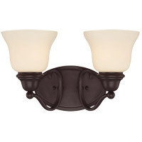 Yates 2 Light 15 inch English Bronze Bath Bar Wall Light