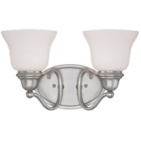 Yates 2 Light 15 inch Pewter Bath Bar Wall Light
