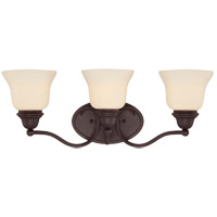 Yates 3 Light 23 inch English Bronze Bath Bar Wall Light