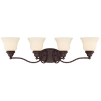 Savoy House 8-6837-4-13 Yates 4 Light 31 inch English Bronze Bath Bar Wall Light in Pale Cream photo thumbnail