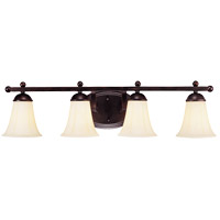 Vanguard 4 Light 33 inch English Bronze Vanity Light Wall Light