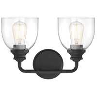 Savoy House 8-7205-2-BK Vale 2 Light 15 inch Black Bath Light Wall Light