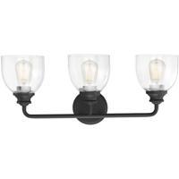 Savoy House 8-7205-3-BK Vale 3 Light 24 inch Black Bath Light Wall Light