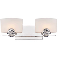 Savoy House Pearl 2 Light Vanity Light in Polished Nickel 8-7500-2-109