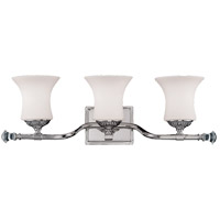 Savoy House Jemmy 3 Light Vanity Light in Polished Nickel 8-8000-3-109