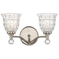 Savoy House Birone 2 Light Vanity Light in Polished Nickel 8-880-2-109