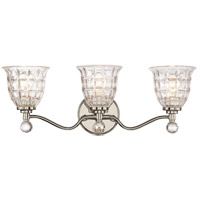 Savoy House 8-880-3-109 Birone 3 Light 24 inch Polished Nickel Bath Bar Wall Light