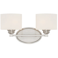 Kane 2 Light 16 inch Satin Nickel Bath Bar Wall Light