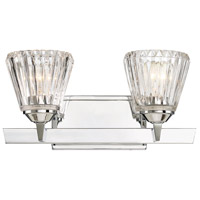 Dresden 2 Light 16 inch Chrome Bath Bar Wall Light