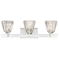 Savoy House 8-9020-3-11 Dresden 3 Light 25 inch Polished Chrome Bath Bar Wall Light