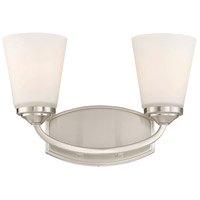 Jordan 2 Light 14 inch Satin Nickel Bath Bar Wall Light
