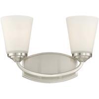Savoy House 8-9070-2-SN Jordan 2 Light 14 inch Satin Nickel Bath Bar Wall Light