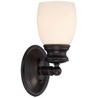 Elise 1 Light 5 inch English Bronze Bath Bar Wall Light