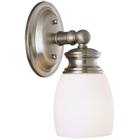 Elise 1 Light 5 inch Satin Nickel Bath Sconce Wall Light