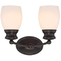 Elise 2 Light 12 inch English Bronze Bath Bar Wall Light