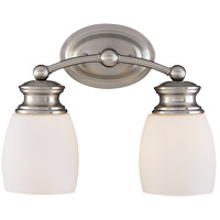 Elise 2 Light 12 inch Satin Nickel Bath Bar Wall Light