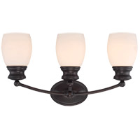 Elise 3 Light 21 inch English Bronze Bath Bar Wall Light