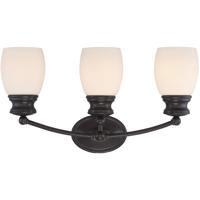 Savoy House 8-9127-3-13 Elise 3 Light 21 inch English Bronze Bath Bar Wall Light