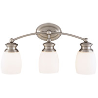 Elise 3 Light 21 inch Satin Nickel Bath Bar Wall Light