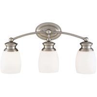 Savoy House 8-9127-3-SN Elise 3 Light 21 inch Satin Nickel Bath Bar Wall Light