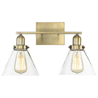 Drake 2 Light 18 inch Warm Brass Bath Bar Wall Light