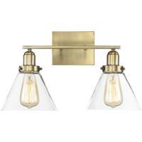 Savoy House 8-9130-2-322 Drake 2 Light 18 inch Warm Brass Bath Bar Wall Light