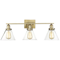 Drake 3 Light 29 inch Warm Brass Bath Bar Wall Light