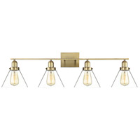 Drake 4 Light 38 inch Warm Brass Bath Bar Wall Light