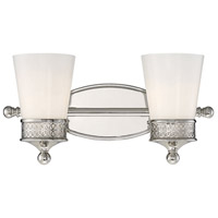 Hammond 2 Light 16 inch Polished Nickel Bath Bar Wall Light