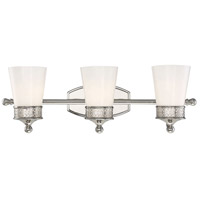 Hammond 3 Light 24 inch Polished Nickel Bath Bar Wall Light